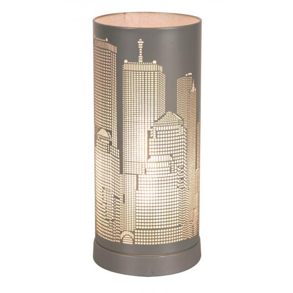 Lampe tactile new york gris mat lampe ado sur lampe avenue for Conforama lampe de chevet