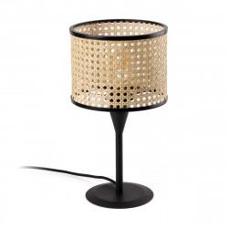 Lampe de table cannage