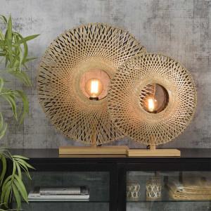 lampe en bambou naturel et noir