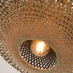 bambou tressé lampe