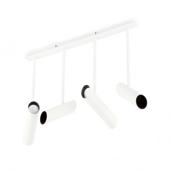 Plafonnier design 4 spots blancs