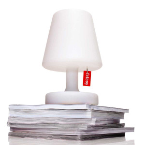 Lampe de table blanche pour extérieur