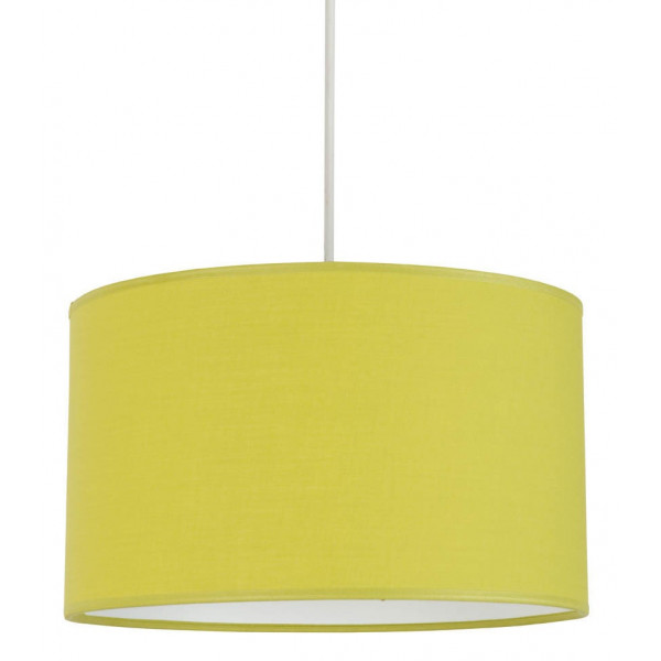 suspension verte abat jour coton cylindrique lampe avenue. Black Bedroom Furniture Sets. Home Design Ideas