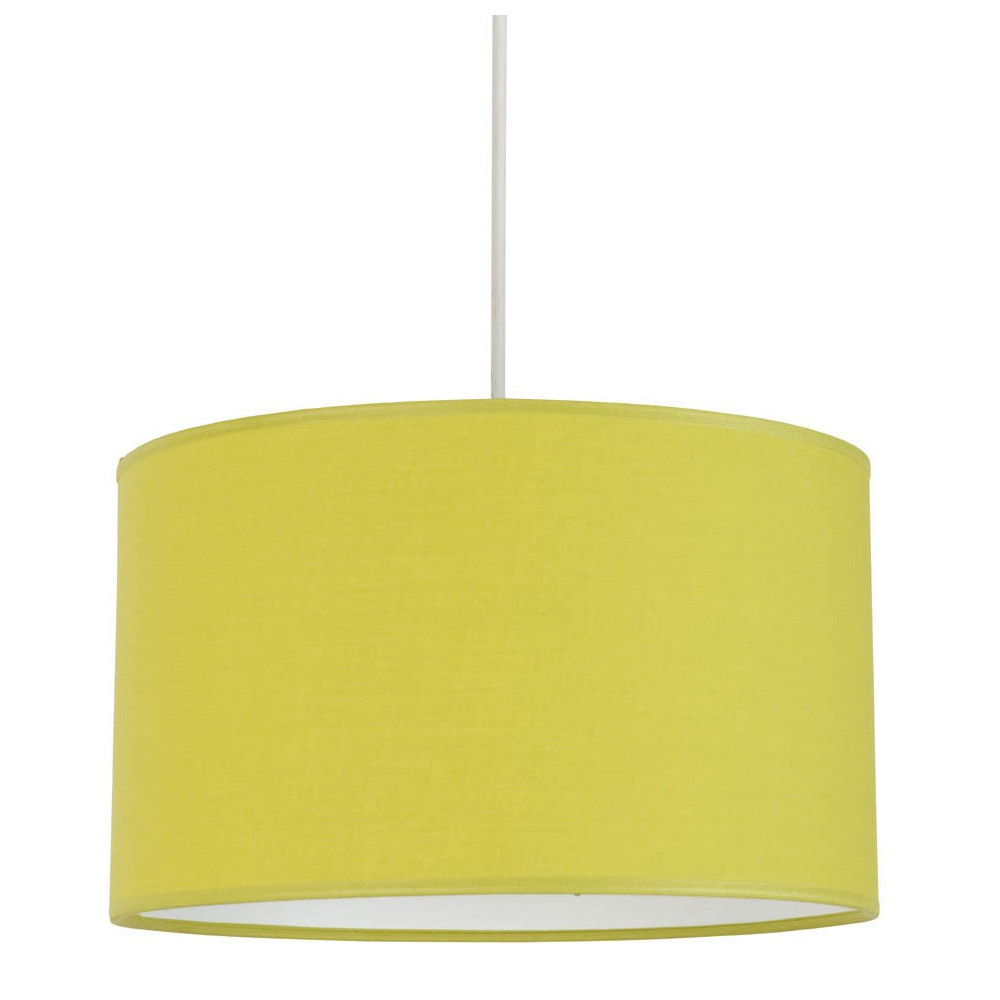 suspension verte abat jour coton cylindrique lampe avenue On luminaire abat jour suspension