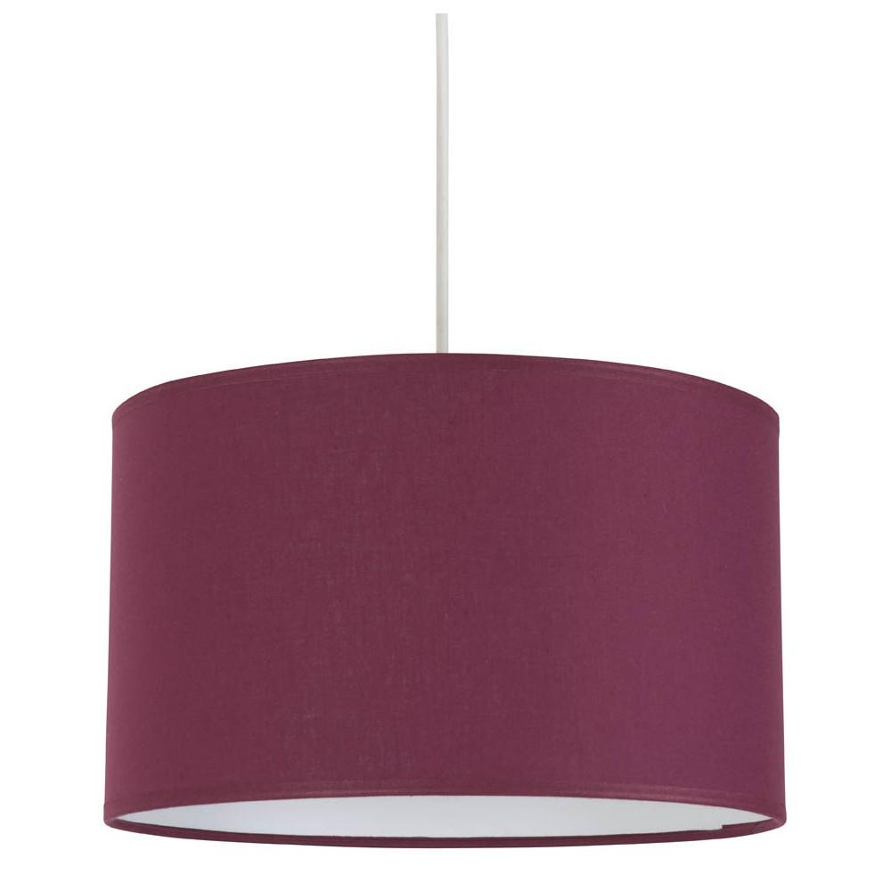 suspension abat jour cylindre couleur prune lampe avenue. Black Bedroom Furniture Sets. Home Design Ideas