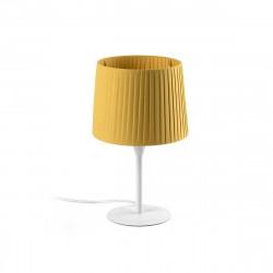 Lampe à poser jaune et blanche