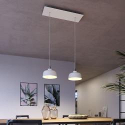 Suspension double lampes blanches pour salle à manger