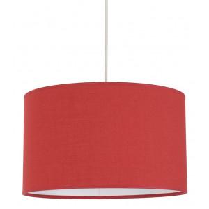Suspension luminaire rouge abat-jour