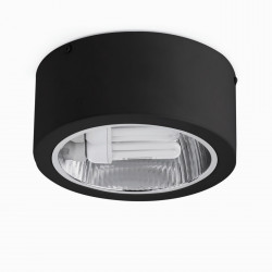 Plafonnier spot design noir Faro