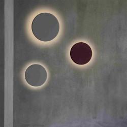 Luminaire mural gris ronde