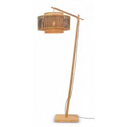 Lampadaire bambou et bois
