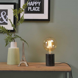 Lampe de table en marbre noir