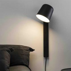 Applique en acier noir, avec faisceau orientable