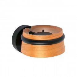 lampe applique en bois et metal