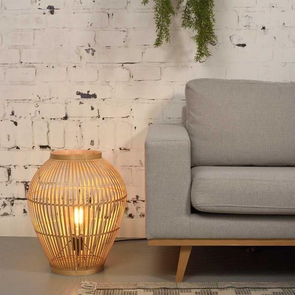 Lampe en bambou