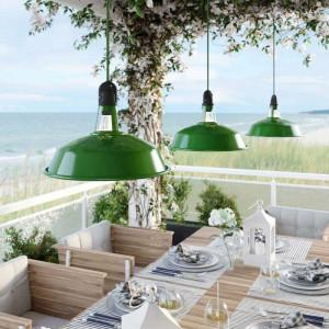 Suspension extérieure verte pour terrasse