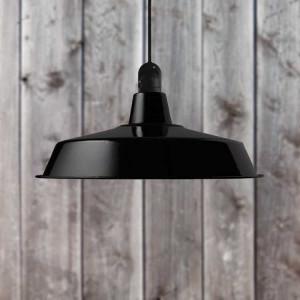 Suspension extérieure noire diam 45cm - made in France