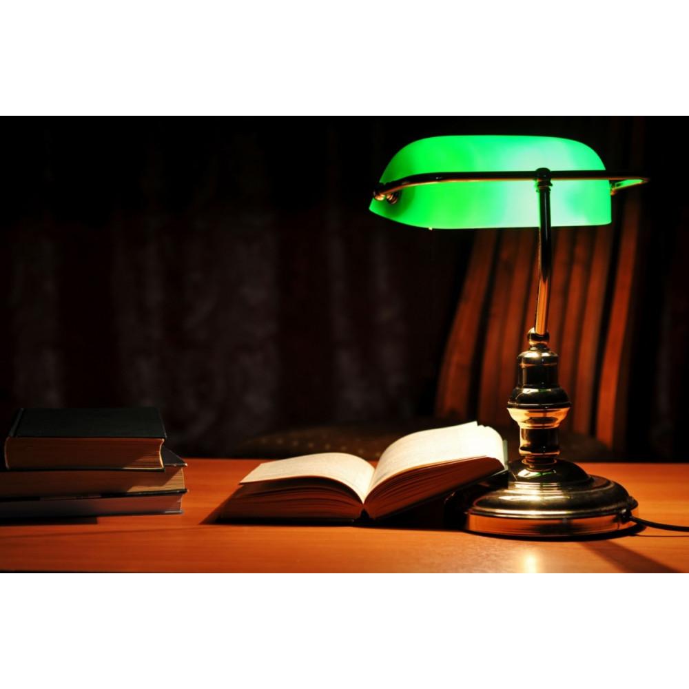 lampe de bureau banquier finition bronze. Black Bedroom Furniture Sets. Home Design Ideas