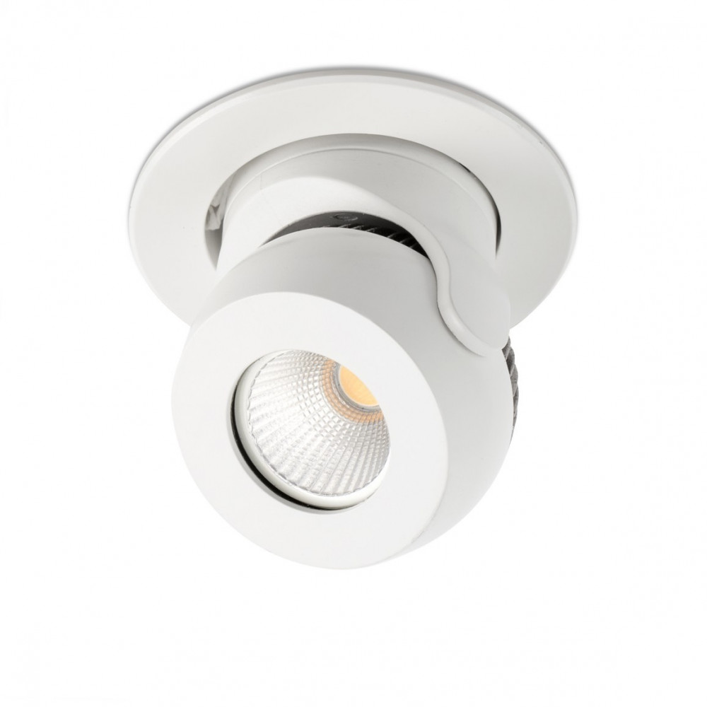 Spot led encastrable et orientable blanc en vente sur for Spot exterieur orientable encastrable