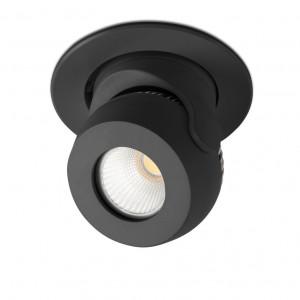 Spot LED encastrable et orientable noir - Faro