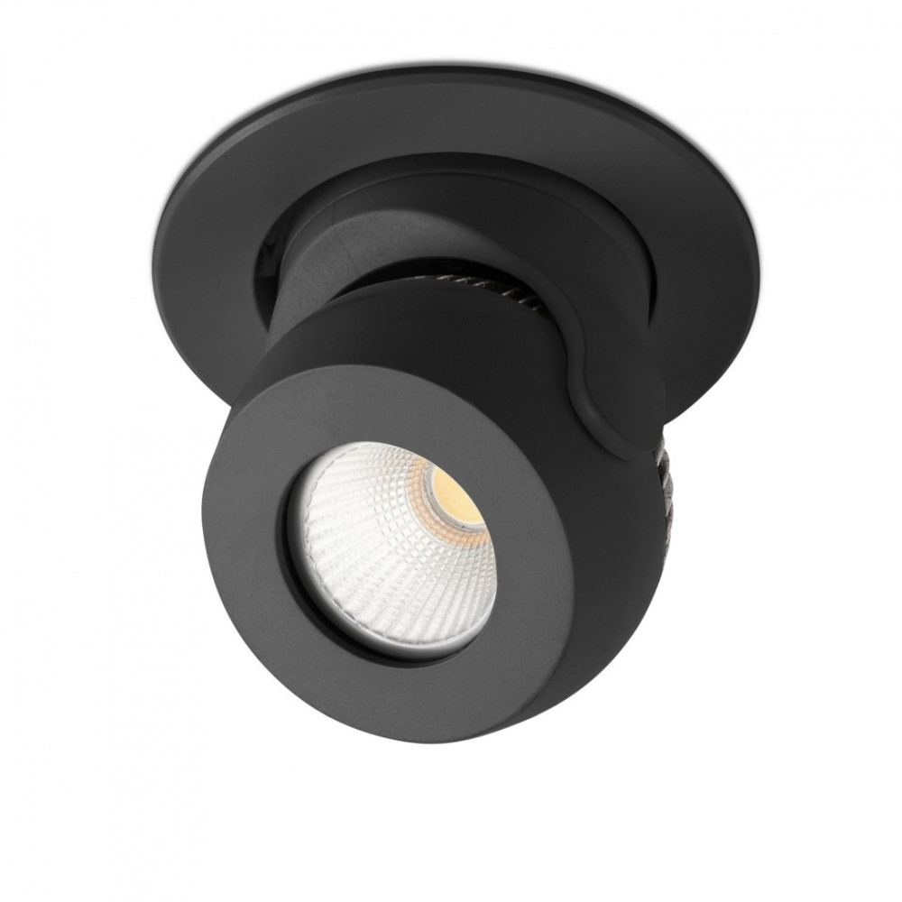Spot led noir encastrable et orientable en vente sur for Spot exterieur led encastrable