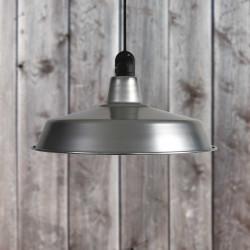 Suspension d'extérieur en aluminium naturel diam 45cm