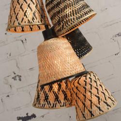 Suspension multiple en bambou