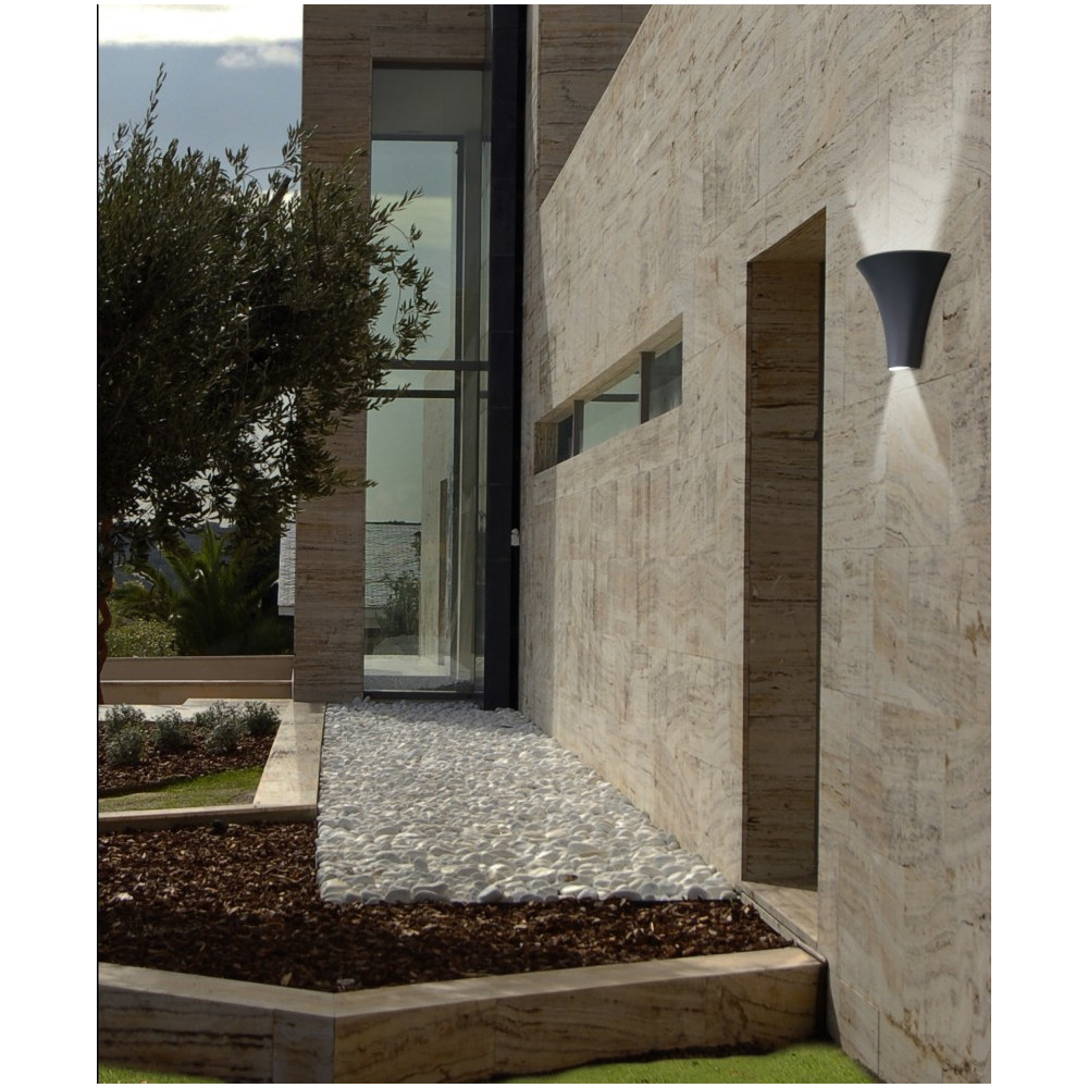 Applique led ext rieur design gris fonc en vente sur for Spot exterieur design