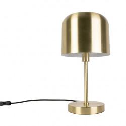 Lampe à poser dorée avec abat-jour cloche