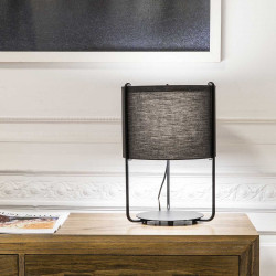 Lampe de table abat-jour gris