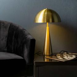 Lampe champignon dorée à poser