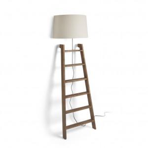 Lampadaire échelle déco en bois