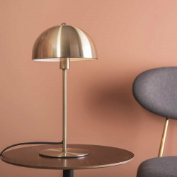 Lampe de table champignon or Bonnet - H39cm