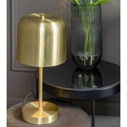 Lampe de table dorée abat-jour cloche