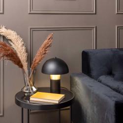 Lampe de table champignon or et noir