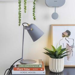 Lampe de table en métal gris