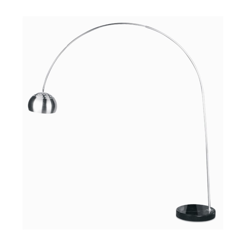 Grand lampadaire arc design socle marbre noir sur lampe avenue for Meuble pour lampe de salon