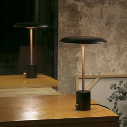 Lampe noire et cuivre LED avec variateur