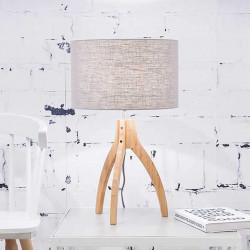 Lampe bois grise chevet