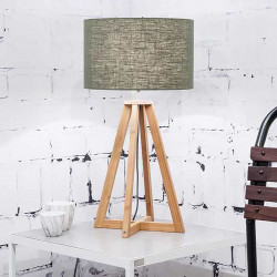 petite lampe tréteau bois