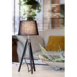 Lampe trépied noir avec abat-jour