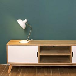 Lampe de bureau métal blanc