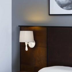 Lampe applique murale blanche avec liseuse