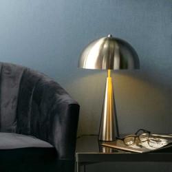 Lampe de table en nickel brossé