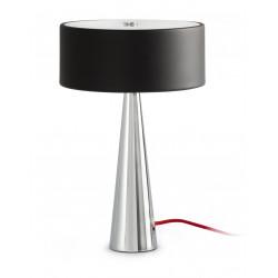Lampe noire chromée design Faro