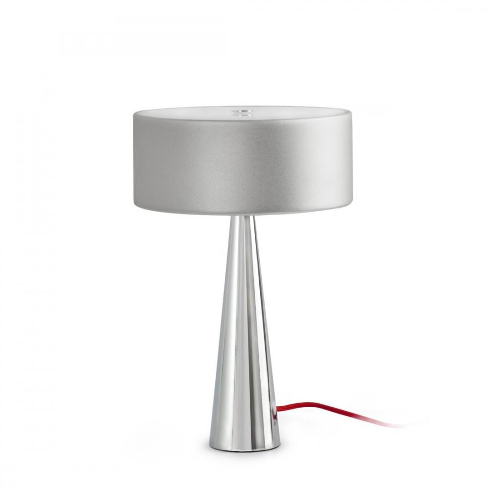 Lampe grise chrom e vente lampe design sur lampe avenue for Lampe a poser grise