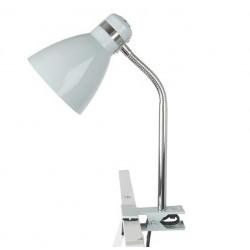 Lampe de bureau à pince grise