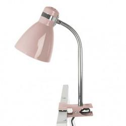 Lampe de bureau à pince rose