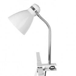 Lampe de bureau à pince blanche
