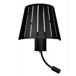 Applique noire lampe chevet liseuse pour hôtel
